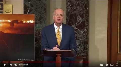 (VIDEO) Sen. Moran Shares Clark County Family Story from KS Fires on Senate Floor