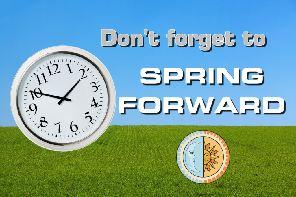 Clocks move one hour forward tonight