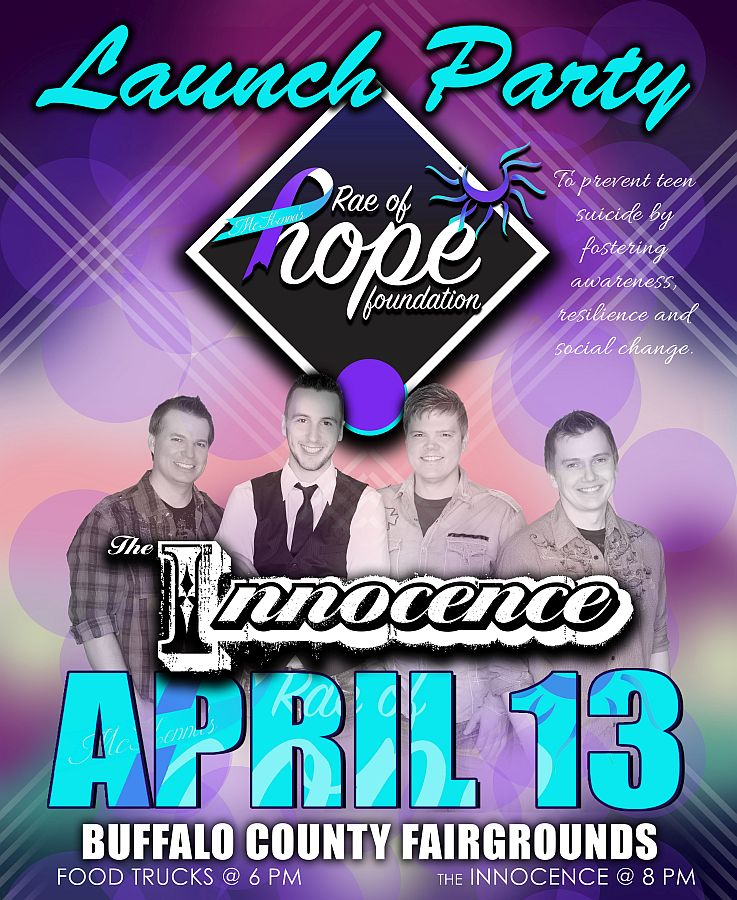 Rae of Hope Launch Party raising funds for teen suicide prevention
