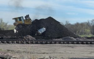 BNSF coal train derailment in Thedford