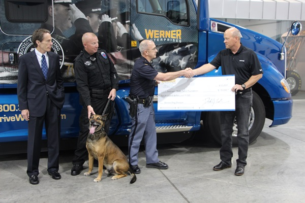 Donation to Help NSP K-9 Program