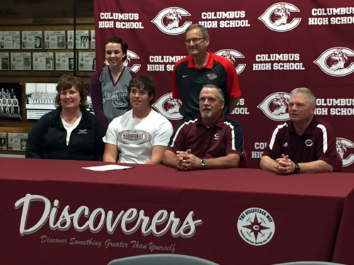 Columbus High golfer signs with Northeast