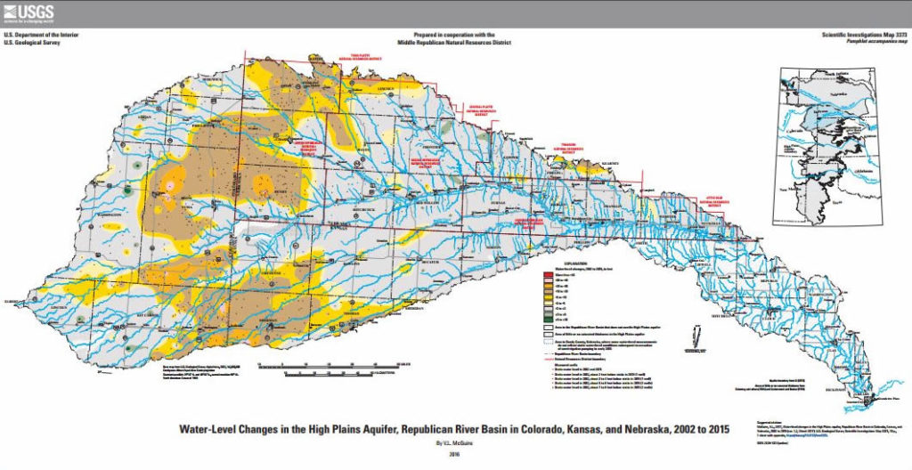 New USGS Map of High Plains Aquifer Represents Conditions After
