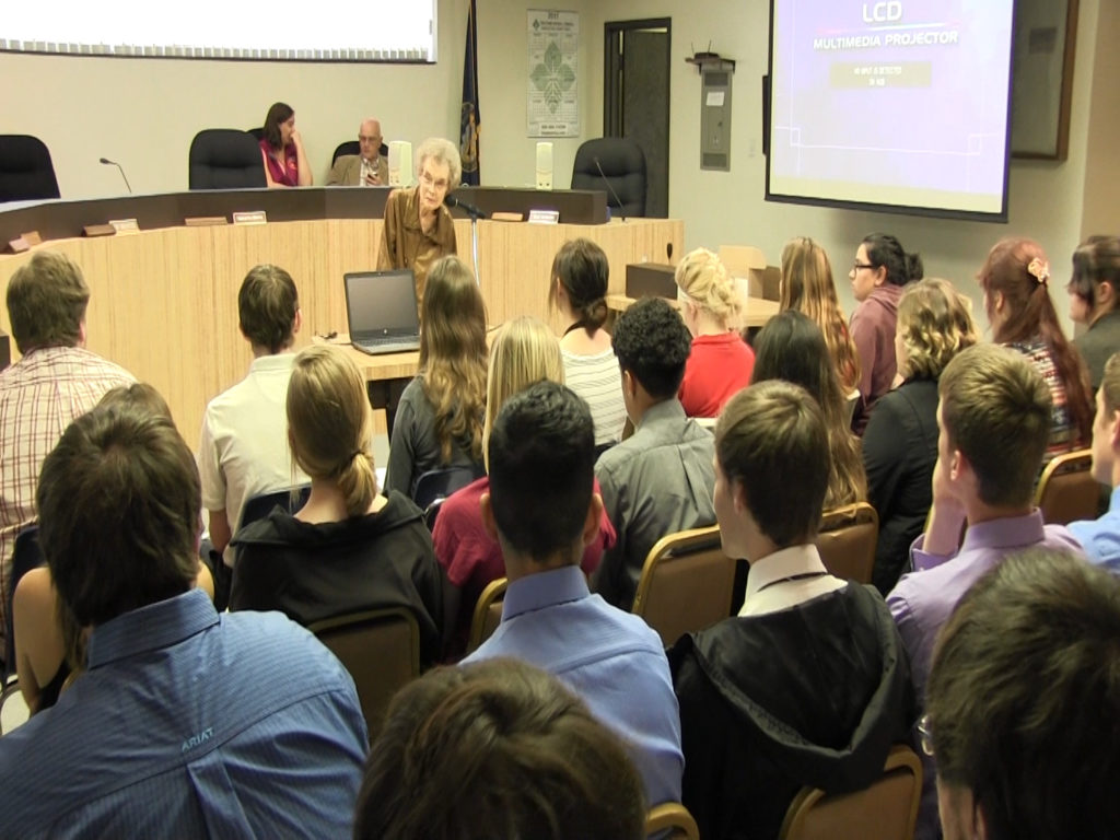 Local high school students learn about how county government works