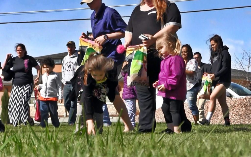 Kids with special needs enjoy Easter Egg Hunt Saturday