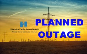 Planned NPPD power outage for Crawford, Whitney April 27th
