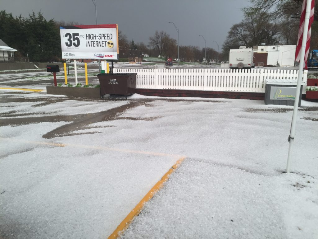 Hail Storm Hits West Point
