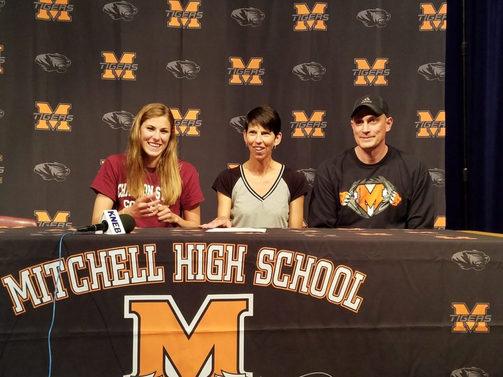 Madison Watson of Mitchell signs with CSC track and field