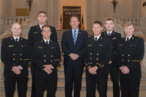 Rep. Smith visits with 3rd District Midshipmen at U.S. Naval Academy