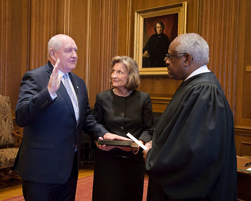 Sonny Perdue Sworn in as 31st U.S. Secretary of Agriculture