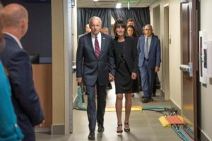 Biden Delivers Keynote Address At Ribbon-Cutting For Buffett Cancer Center