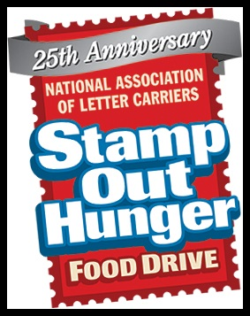 Letter Carriers' Stamp Out Hunger Food Drive, Saturday, May 13