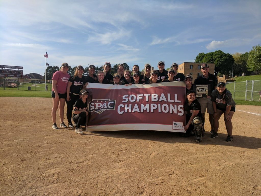 Hastings College Wins GPAC Softball Title
