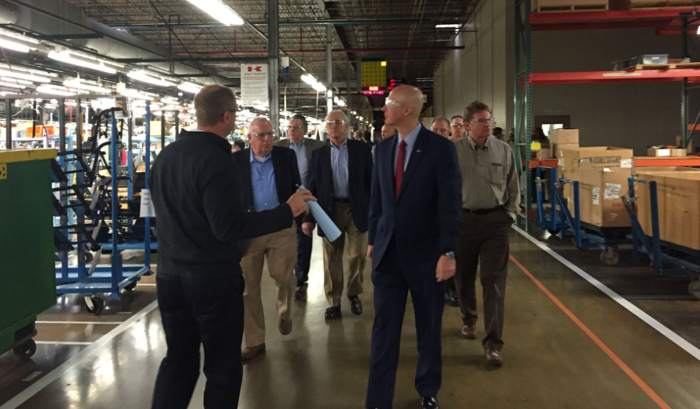 Gov. Ricketts, Kawasaki Unveil Company's First Aerostructures Production Line in U.S.