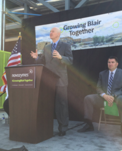 Gov. Ricketts, Novozymes Unveil $36 Million Investment in Blair