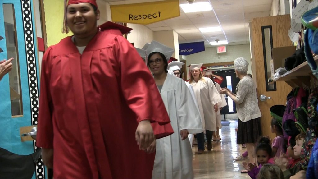 "Soon-to-be Grads return to former elementary schools for SHS ""Grad Walk"""