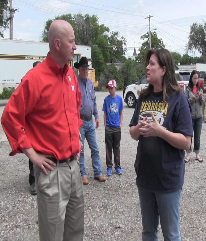 Ricketts Views Morrill County damage, offers thanks for recovery work