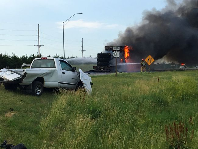 One dead in semi vs. pickup crash