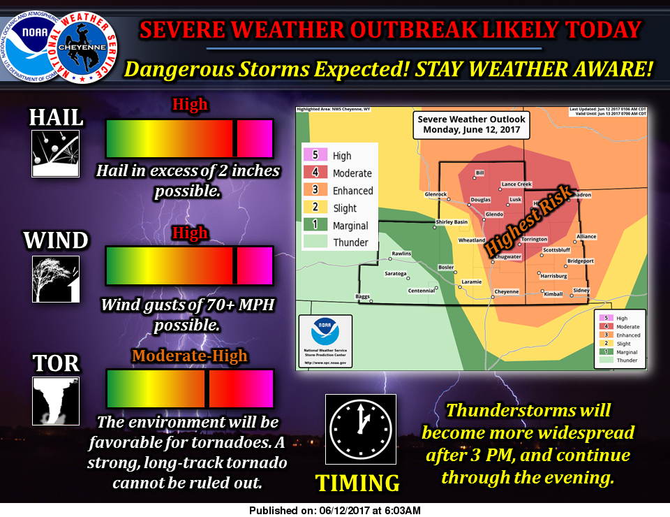 (Video) Severe weather outbreak expected later today; tornadoes possible