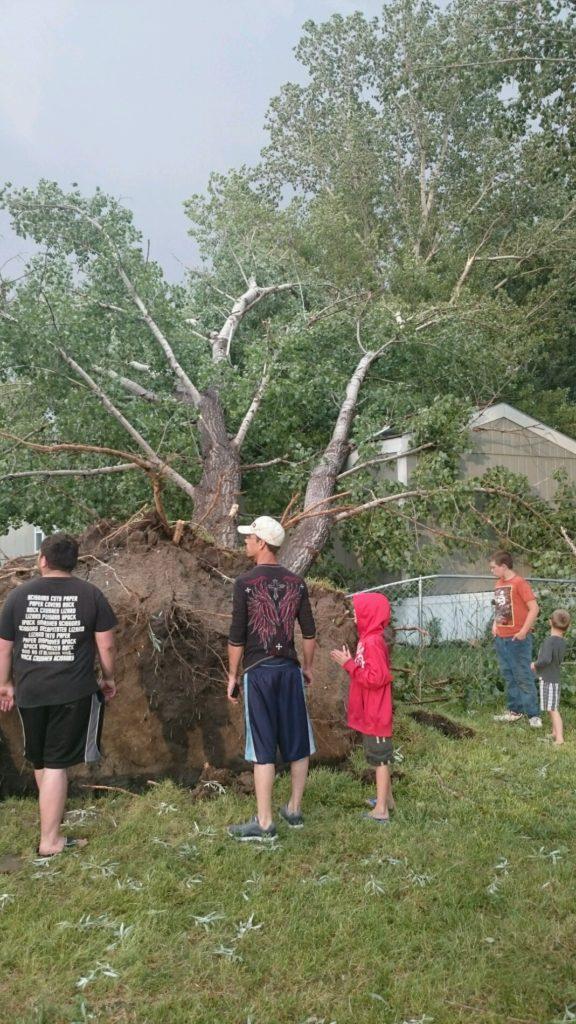 Thunderstorms bring rain, hail, damaging winds