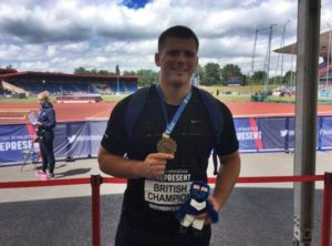 Percy Repeats as British Discus Champion