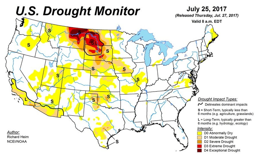 Worsening Drought Conditions In Parts of the U.S.