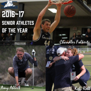 Ahlers, Folkerts and Robb named Concordia senior athletes of the year