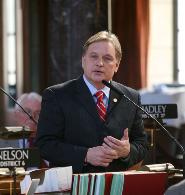Krist talks debates, property tax relief and online sales tax
