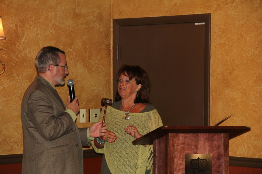 Shelley Knutson new Rotary president; John Marshall named Rotarian of the Year