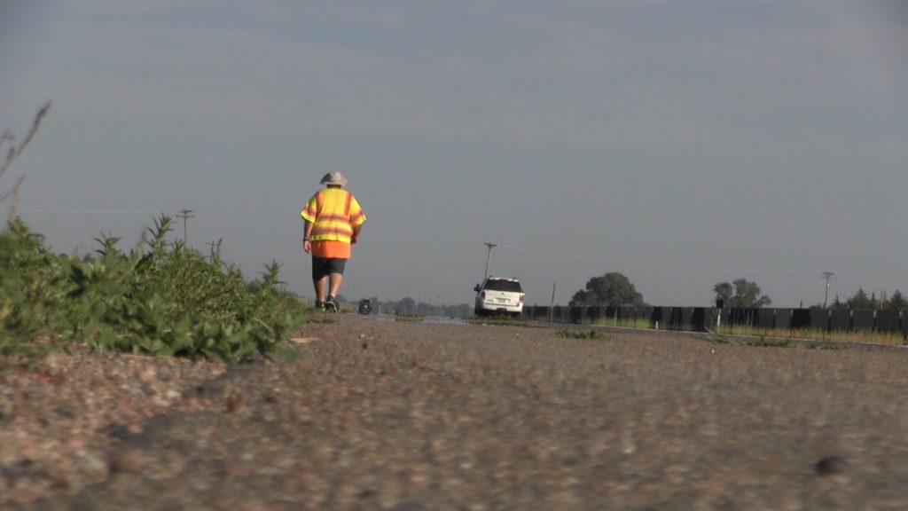 Scottsbluff man walking across Nebraska to cross finish line this week