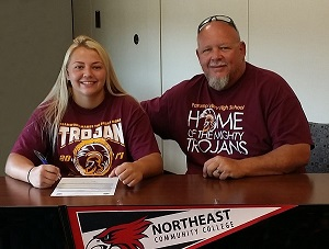 Nevada softball standout signs with Northeast
