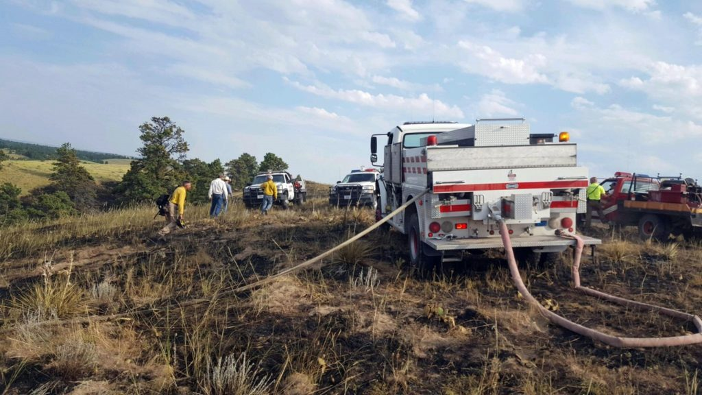 Wildfire in Wildcat Hills contained