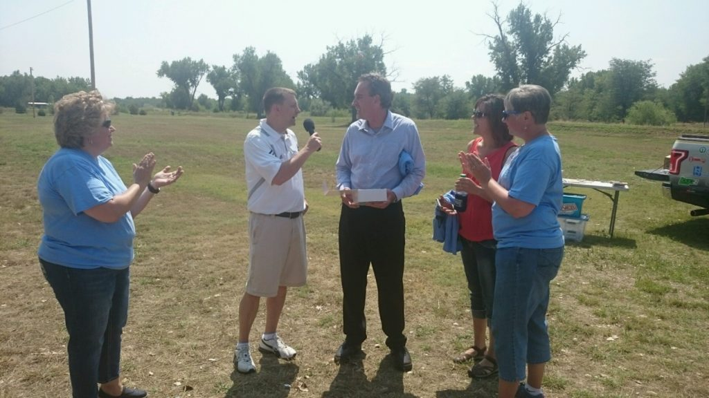 Comings recognized on 8th anniversary of Scottsbluff Kiwanis Club's Trails of Fun playground