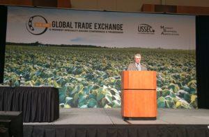 Nebraska Soybean Grower Opens USSEC Trade Exchange in Omaha