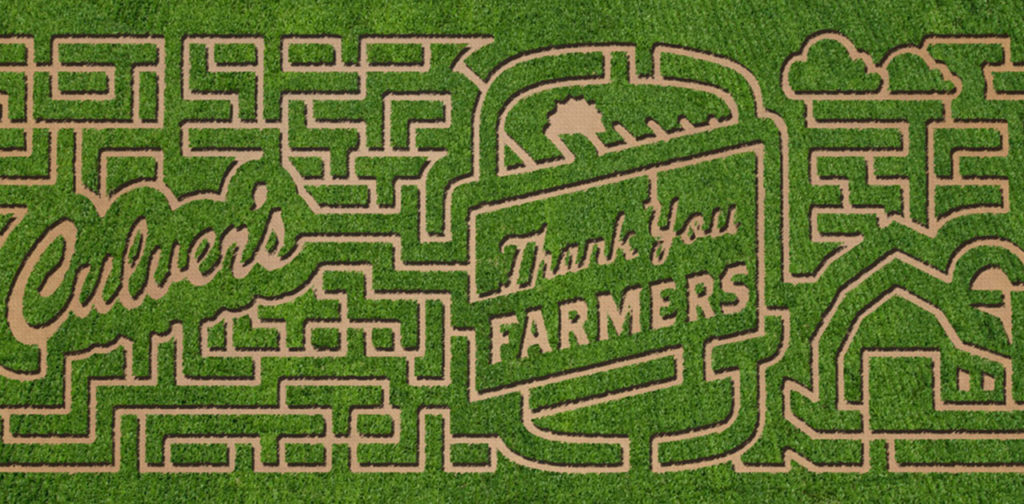 Culver's Restaurants Celebrating Farmers with Corn Mazes