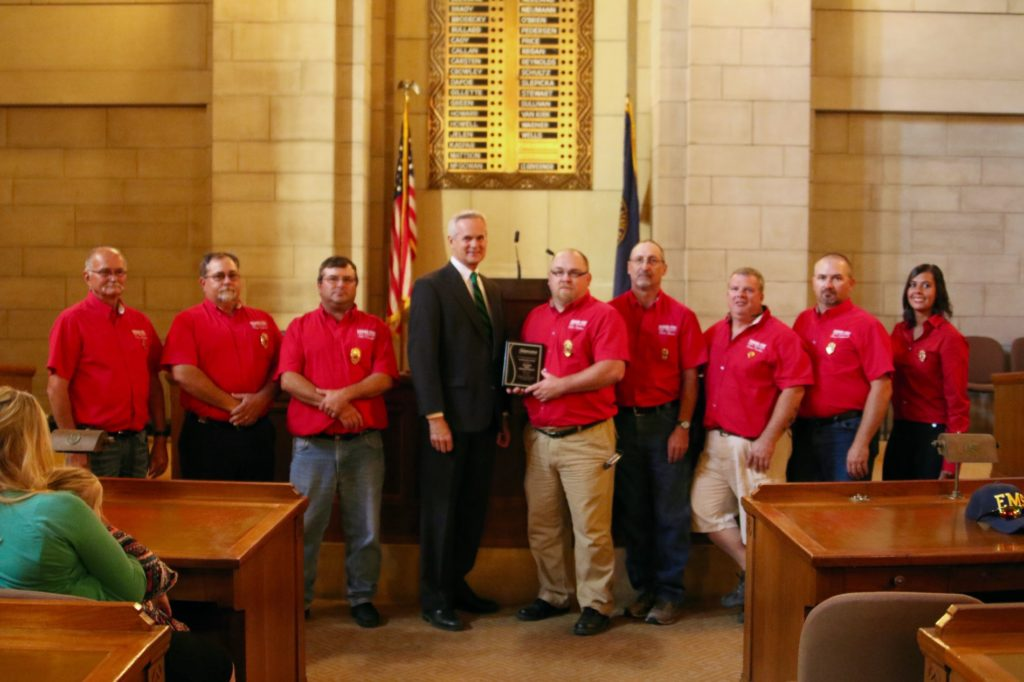 Bayard Fire Department and Fire Chief Mike Harimon honored by Lt. Governor