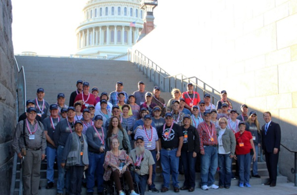 Smith and Fischer Welcome Dawson County Hero Flight to U.S. Capitol