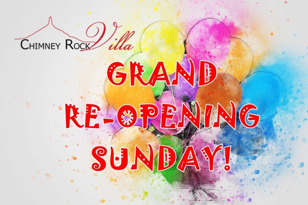 Chimney Rock Villa to celebrate Grand Re-Opening on Sunday