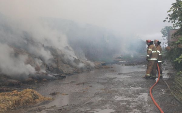 Fire Consumes Roughly 400 Hay Bales Near Deshler