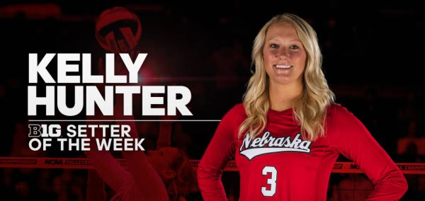 Hunter Named B1G Setter of the Week