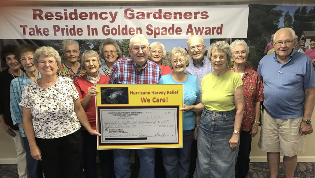 The Residency Accessible Community Garden Club Helps Harvey Victims
