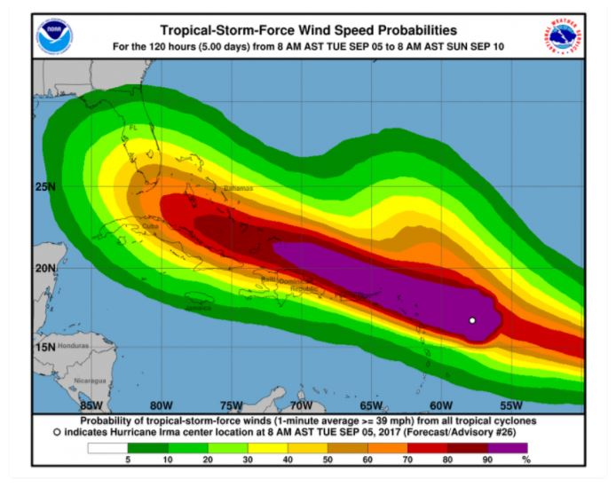 Hurricane Irma to Potentially Impact Florida Citrus and Sugarcane