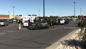 Scottsbluff parking lot rollover Wednesday morning