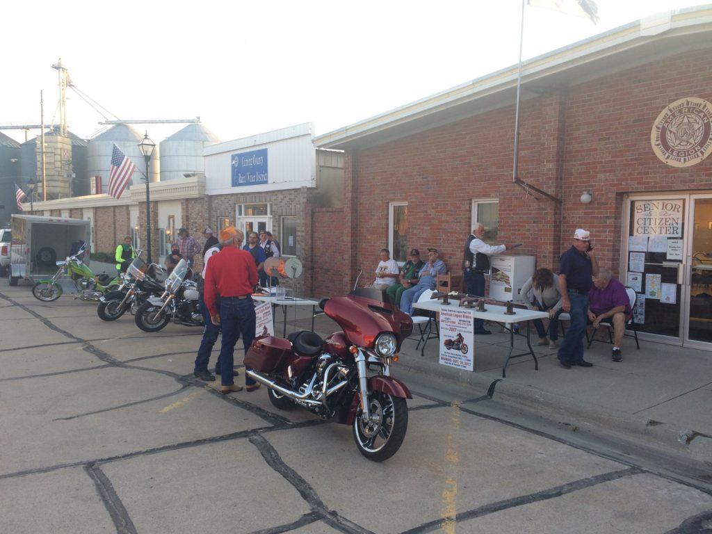 American Legion Riders Give Away A Harley Davidson Motorcycle