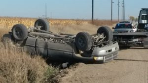 Woman airlifted following rollover north of McGrew
