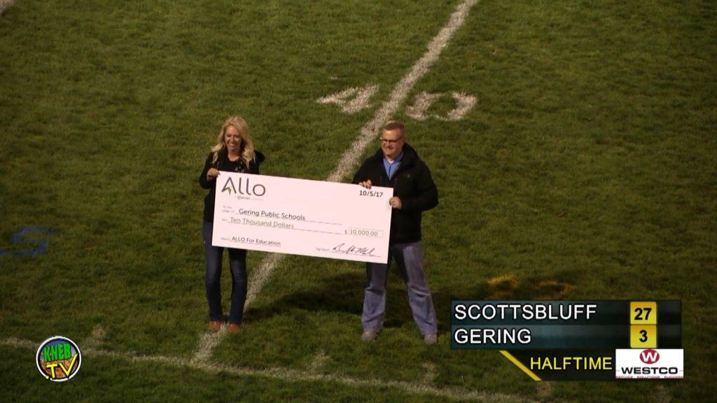 Allo donates $10,000 to Gering Public Schools