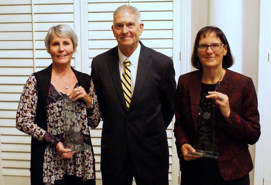 Distinguished Judge Awards Presented to Douglas County District Court Judge Leigh Ann Retelsdorf and Seward County Court Judge C. Jo Petersen