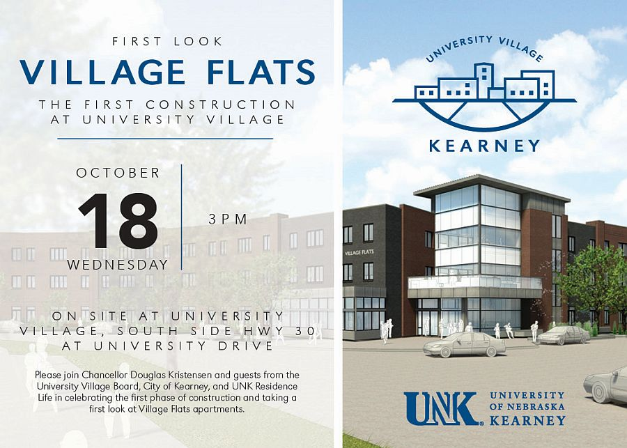 Public invited to see UNK's Village Flats at Oct. 18 first look event