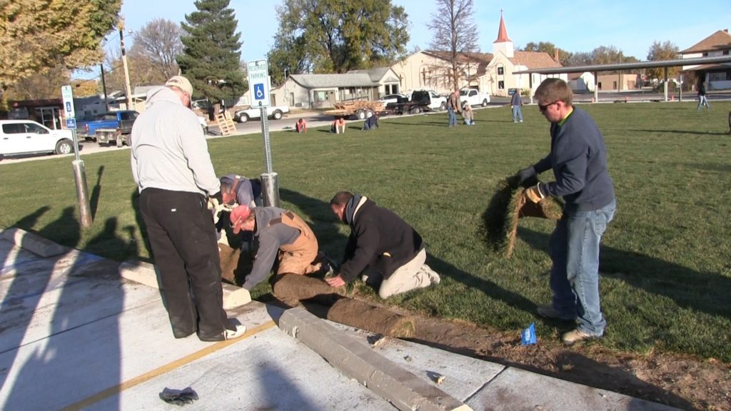 """Gering Civic Plaza """"Sod""""-denly becoming a reality"""