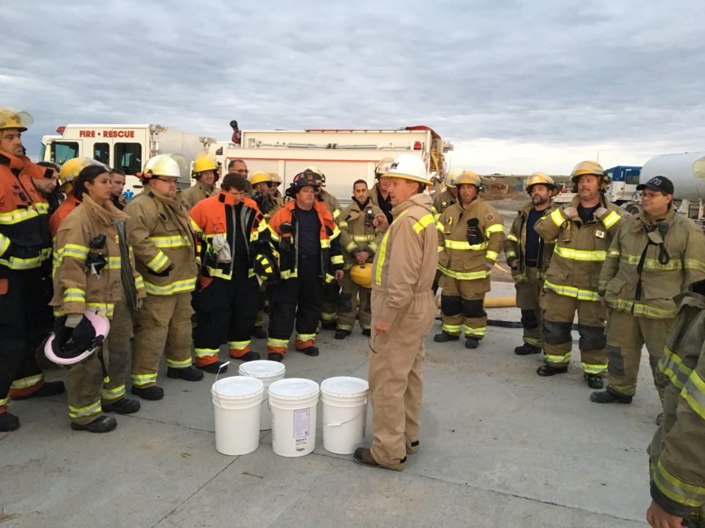 Panhandle firefighters practice battling flames during natural gas fire safety training